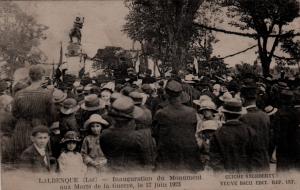 1923 - Inauguration du monument aux morts