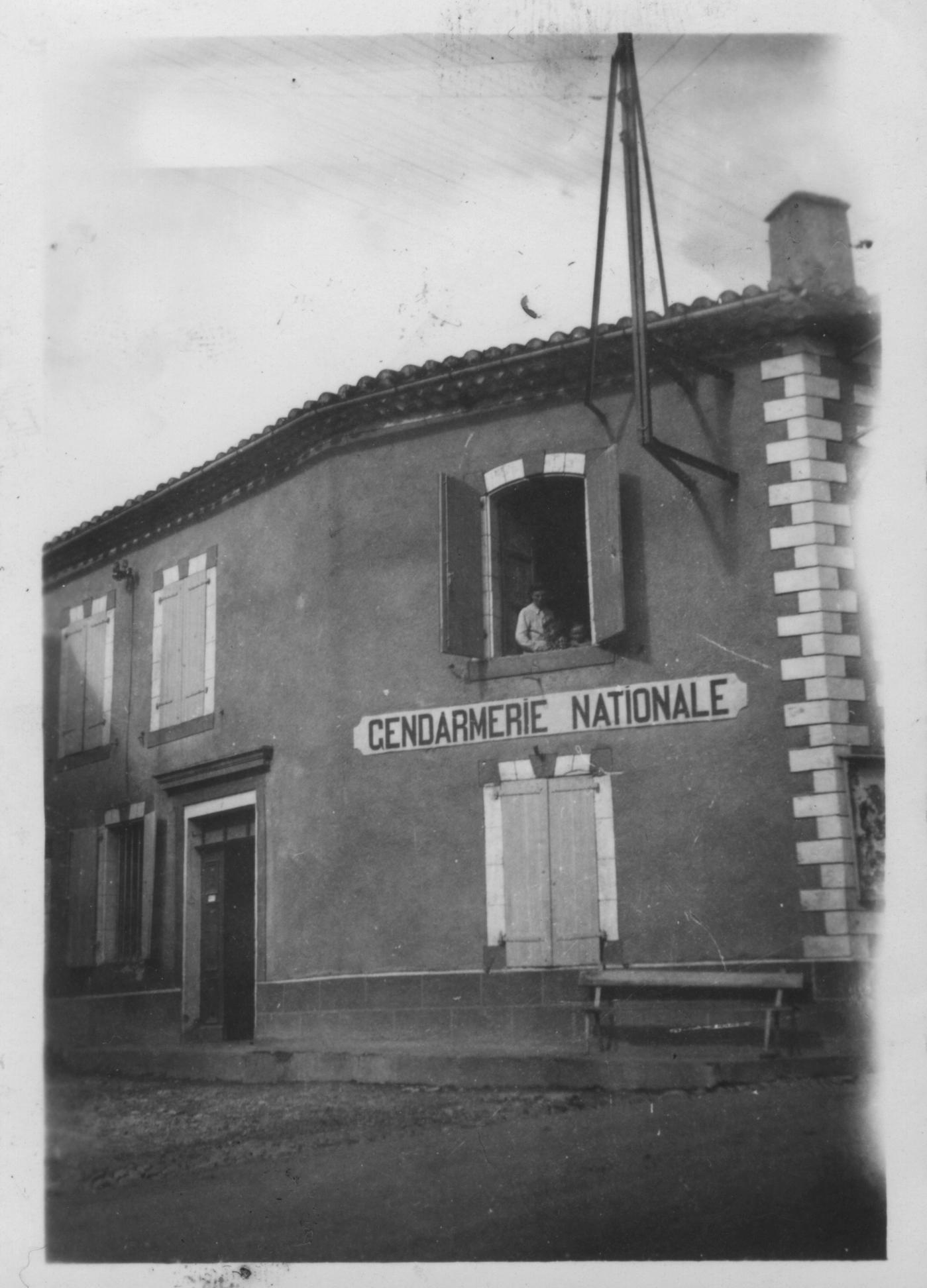 Août 1943 - La gendarmerie de Lalbenque, située à l'emplacement de l'actuelle Salle des fêtes