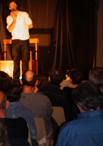Clément Bouscarel le 11 octobre 2014 à Saint-Hilaire