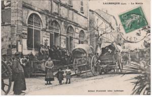 Mairie de Lalbenque au début du XX° siècle